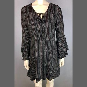 Collective Concepts ruffle / bell sleeve dress Med